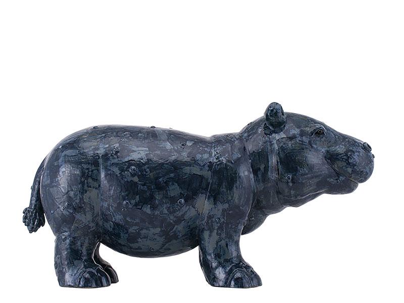 hippopotame en céramique, création originale Valerie Courtet